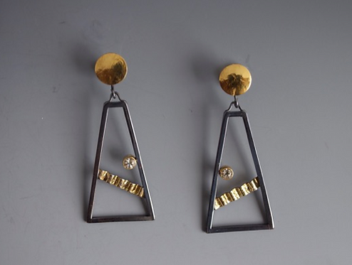 Earrings, Sunstones