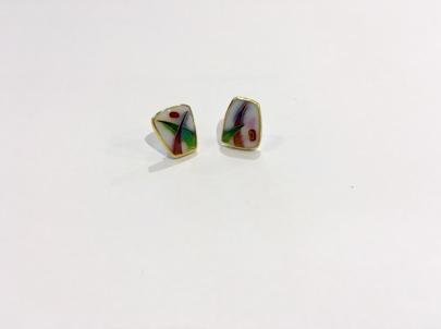 Enamel Earrings/SOLD