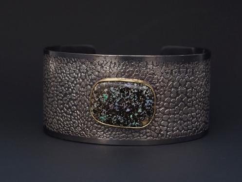 Roller Printed & Oxidized Sterling Bracelet