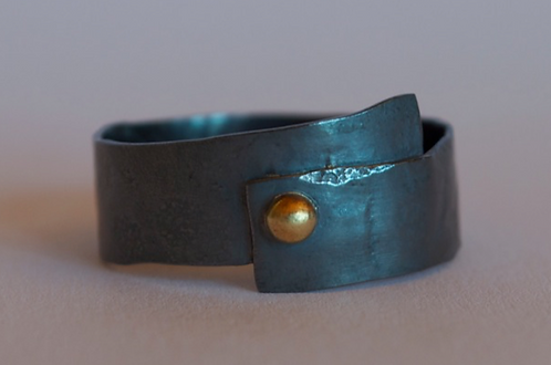 Oxidized Sterling Ring