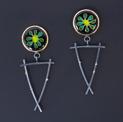 Green & Yellow Earrings