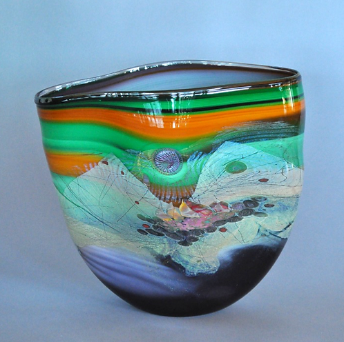 Green & Orange Vessel