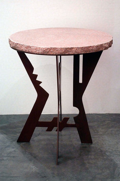 """""""Pedestal Table with Granite Top"""""""