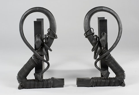 Forged Fireplace Andirons
