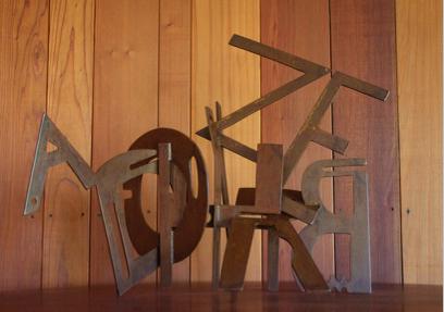 """Steel Letters Maquette"""