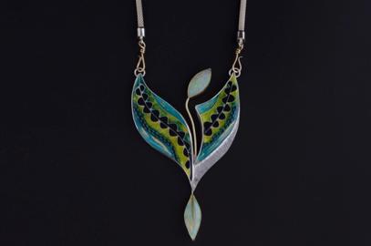 Enamel Necklace / Opal