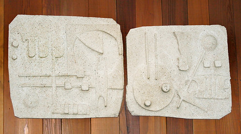 Cement Relief Diptych