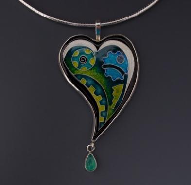 Heart Pendant, Opal