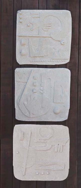 """Concrete Relief Triptych"""