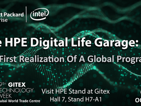 Hewlett Packard Enterprise to showcase the HPE Digital Life Garage at Gitex 2019