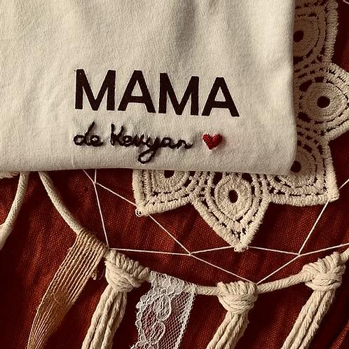 T-shirt brodé  MAMA