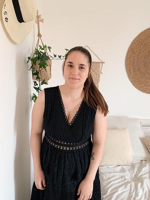 Robe dentelle Cataleya Noir