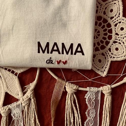 T-shirt allaitement MAMA de ♥ ♥ - Collab Brodé