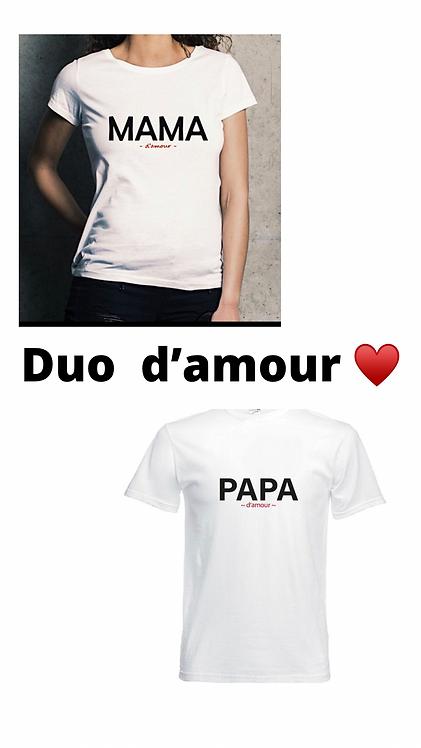 Duo mama + papa d'amour