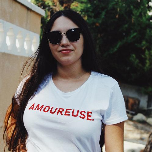 T-Shirt allaitement - amoureuse . En velour
