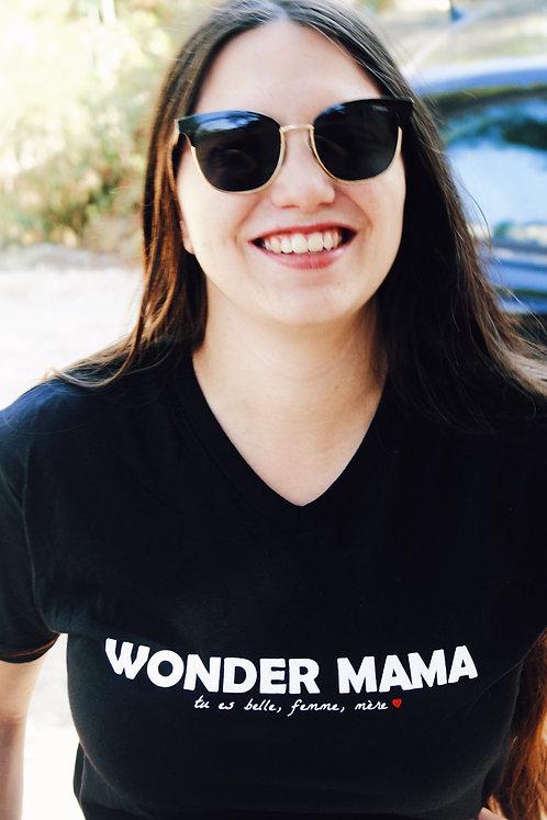 T-shirt allaitement WONDER MAMA noir