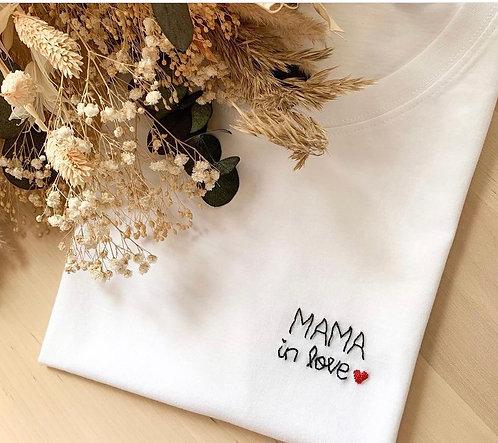 T-shirt BLANC  MAMA MIA STORE ALLAITEMENT