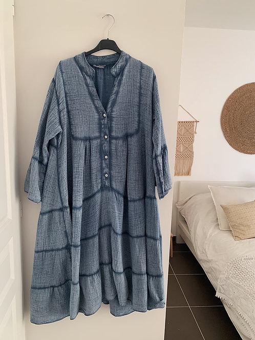 Robe Bohème bleu allaitement
