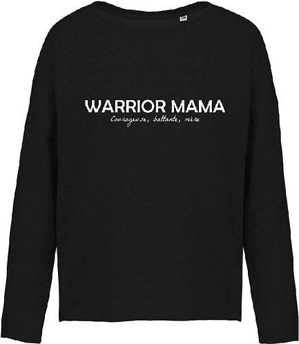 SWEAT LOOSE WARRIOR MAMA NOIR