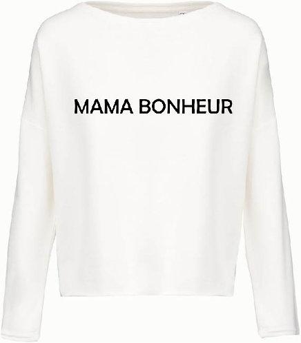SWEAT LOOSE MAMA BONHEUR BLANC