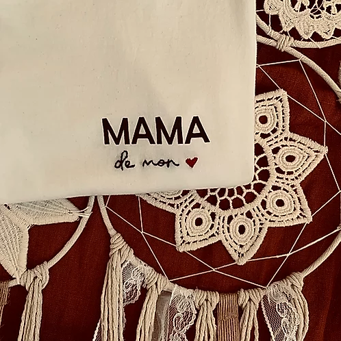 T-shirt brodé capsule  MAMA DE MON ❤️
