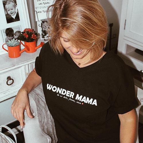 T-shirt WONDER MAMA noir