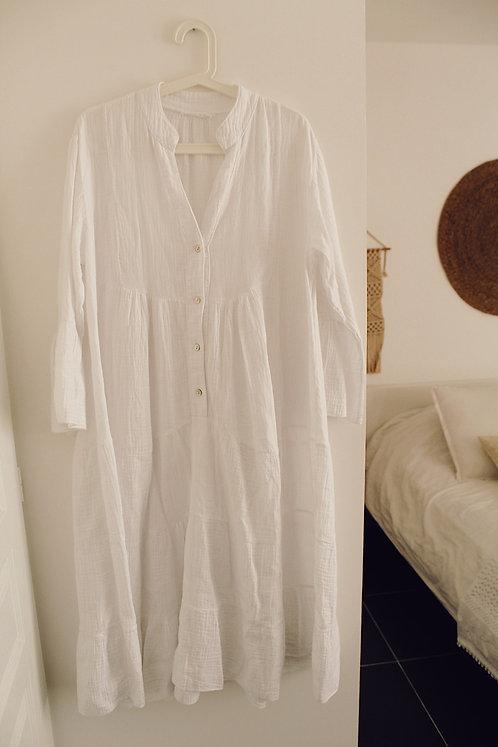 Robe Bohème blanche allaitement