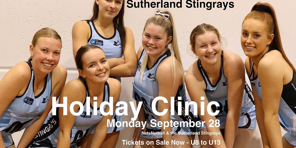Nets Sutherland Stingrays Netball Clinic 💙🖤