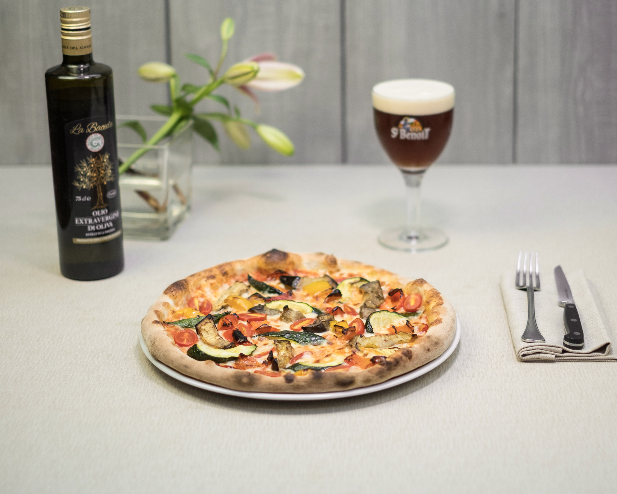 pizza integrale verdure