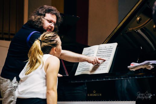 Piano lesson with Diana Voronetskaya