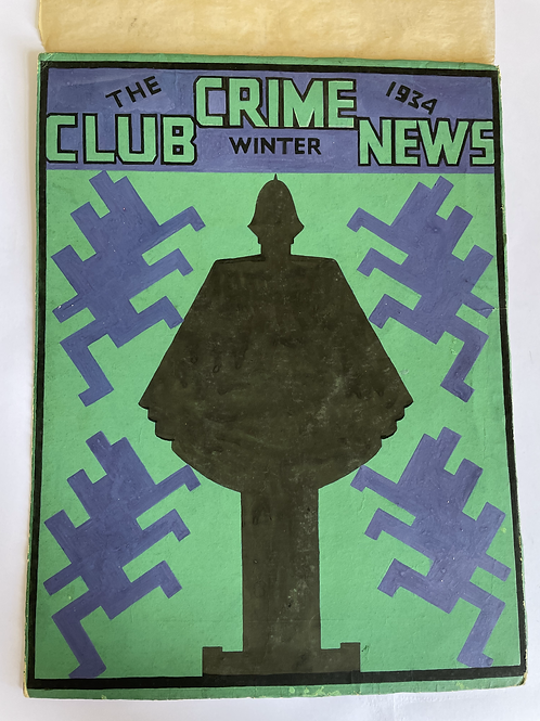 Collins Crime Club News, 1936 Original Cover Artwork