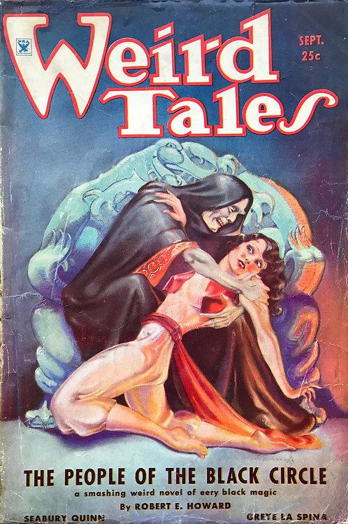 Weird Tales Magazine Sept 1934. Volume 24, Number 3