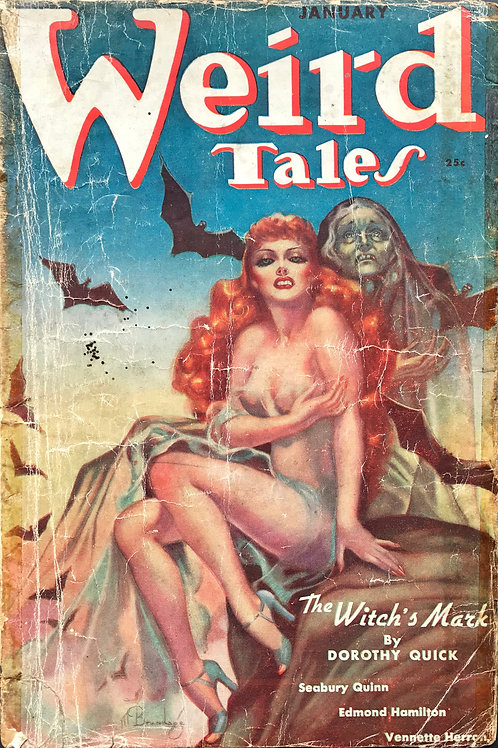 Weird Tales Magazine, January 1938. Volume 31, Number 1