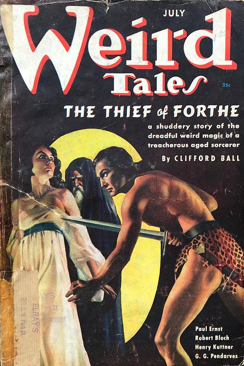 Weird Tales Magazine, July 1937. Volume 30, Number 1