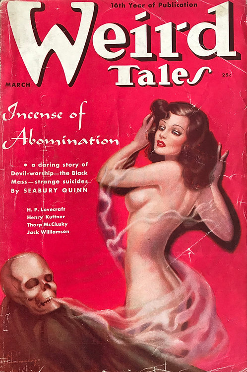 Weird Tales Magazine, March 1938. Volume 31, Number 3