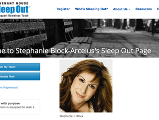 Stephanie Block-Arcelus's Sleep Out Page