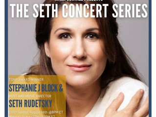 Don't miss Stephanie J. Block w/ Seth Rudetsky August 16th at 8pm!