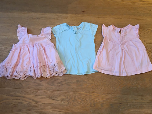 6-12 month girl's tops - Gap and Mayoral