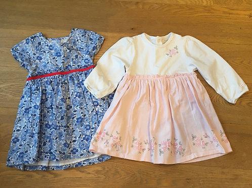 Age 12-18months, Emile et Rose dress and Cath Kidston floral blue dress
