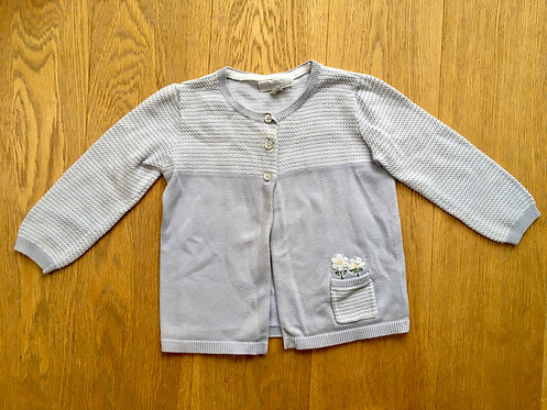 Age 18-24 months, Little White Company pale blue cardigan