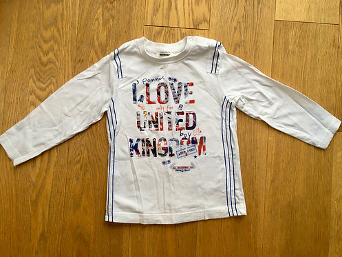 3pommes long sleeve white top, age 3 years (98cm)