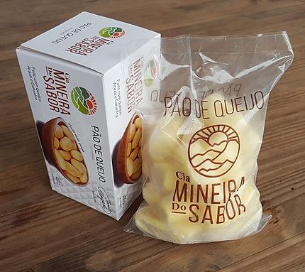 Caixa e saco de pão de queijo 400g