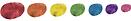 Rainbow blobs as site decoration