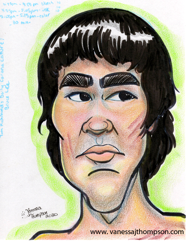 bruce lee caricature