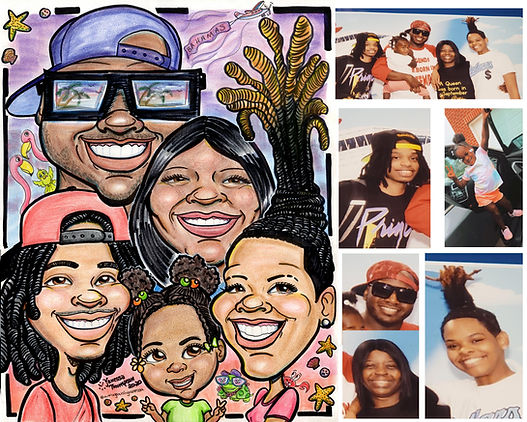 Krista Family Caricature by Vanessa J Th