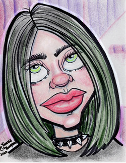 billie eilish caricature