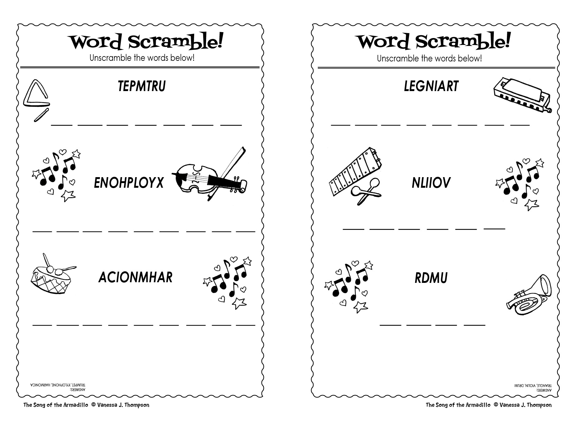 Word Scramble Activity