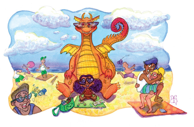 There's a Dragon on the Beach?!