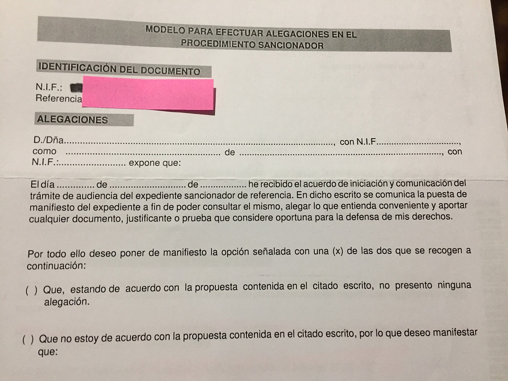 Form for appealing tax office decisions