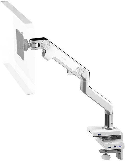 M8 Dual Monitor Arm M/Connect - Silver